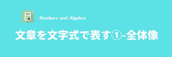 文章を文字式で表す-1(全体像)