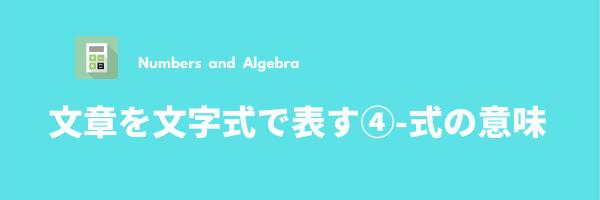 文章を文字式で表す-4(式の意味)