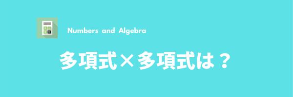 多項式の計算②(多項式×多項式)